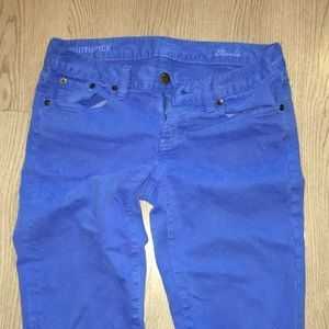 J. Crew Blue Toothpick ankle jeans